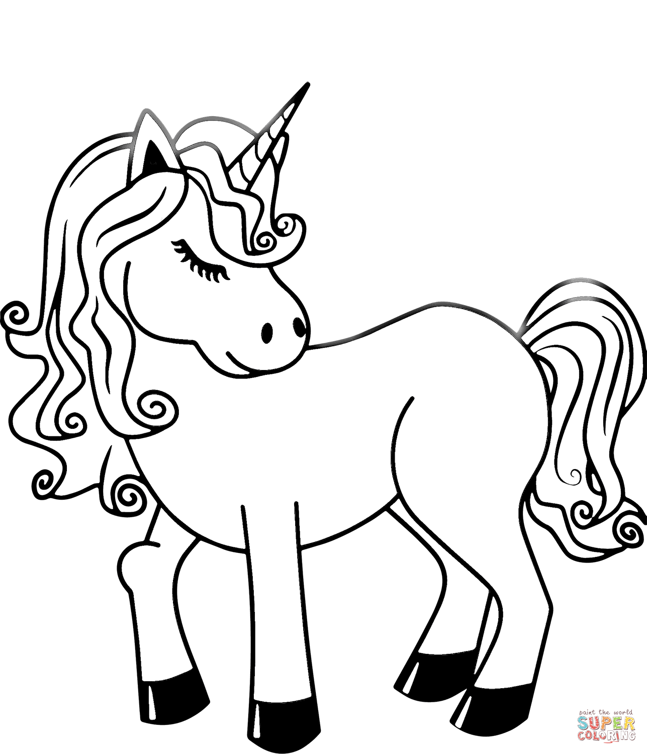Unicorn Super Coloring Unicorn Coloring Pages Emoji Coloring Pages Cute Coloring Pages