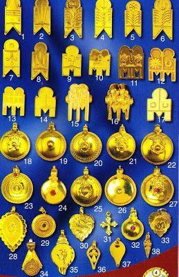 18-27, 29, 32- Pottu thali by Telugus; 37 is Ela Thali by Malyalis