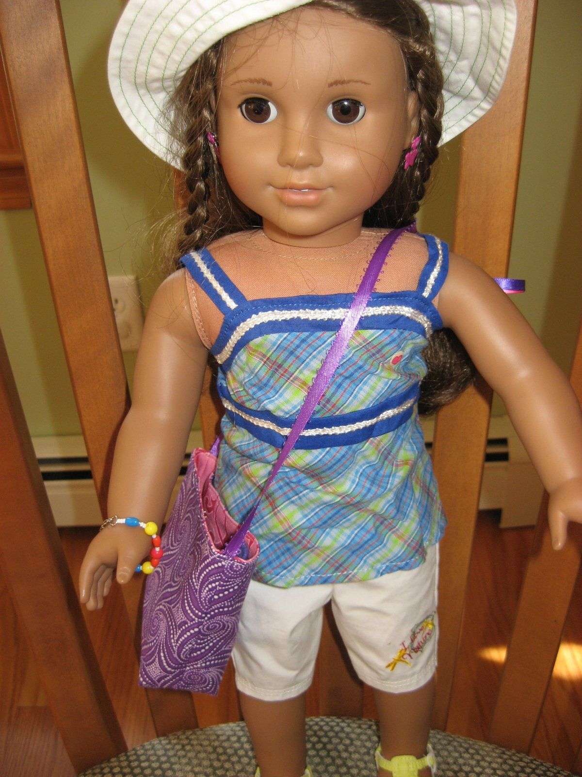 American girl doll tote bag a tiny tote doll dresses pinterest