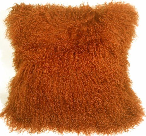 Mongolian Sheepskin Throw Pillow