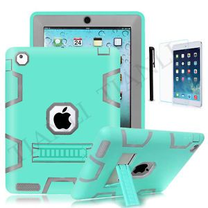 new style f11f1 9ea96 Hybrid Shockproof Protect Military Heavy Duty Case Cover For iPad ...