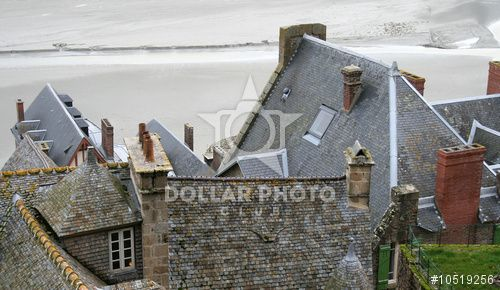 http://www.dollarphotoclub.com/stock-photo/toits mont saint michel/10519256 Dollar Photo Club millions of stock images for $1 each