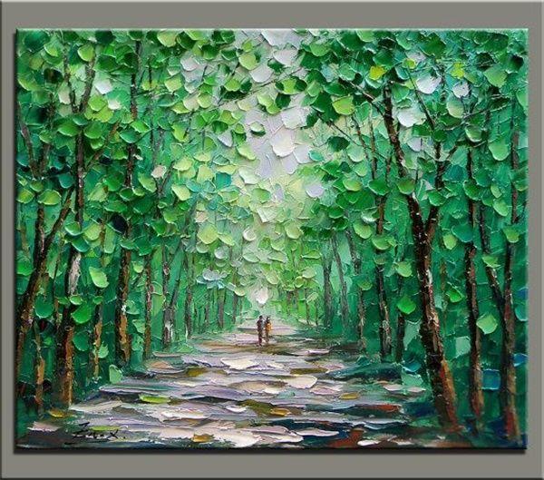80 easy acrylic canvas painting ideas for beginners for Texture painting ideas canvas