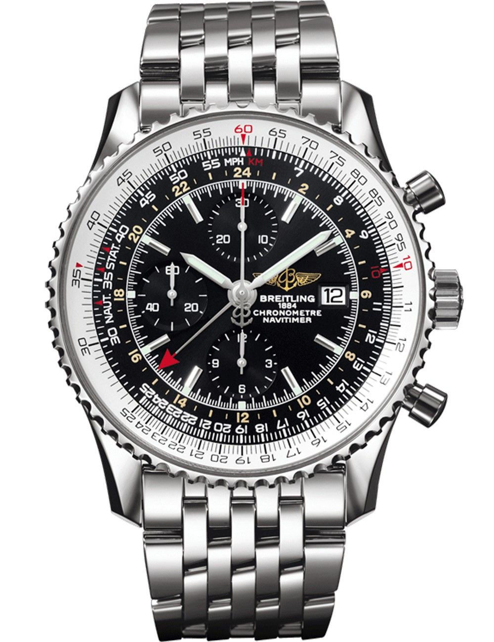 ffe94ddf130 Breitling Navitimer World Relógios Masculinos