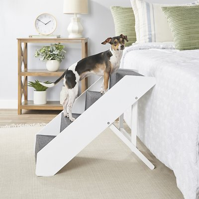 Arf Pets Foldable Dog Amp Cat Stairs White Chewy Com
