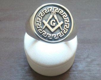 Varouxi Skull Masonic Ring For Mens Handmade Freemasonry
