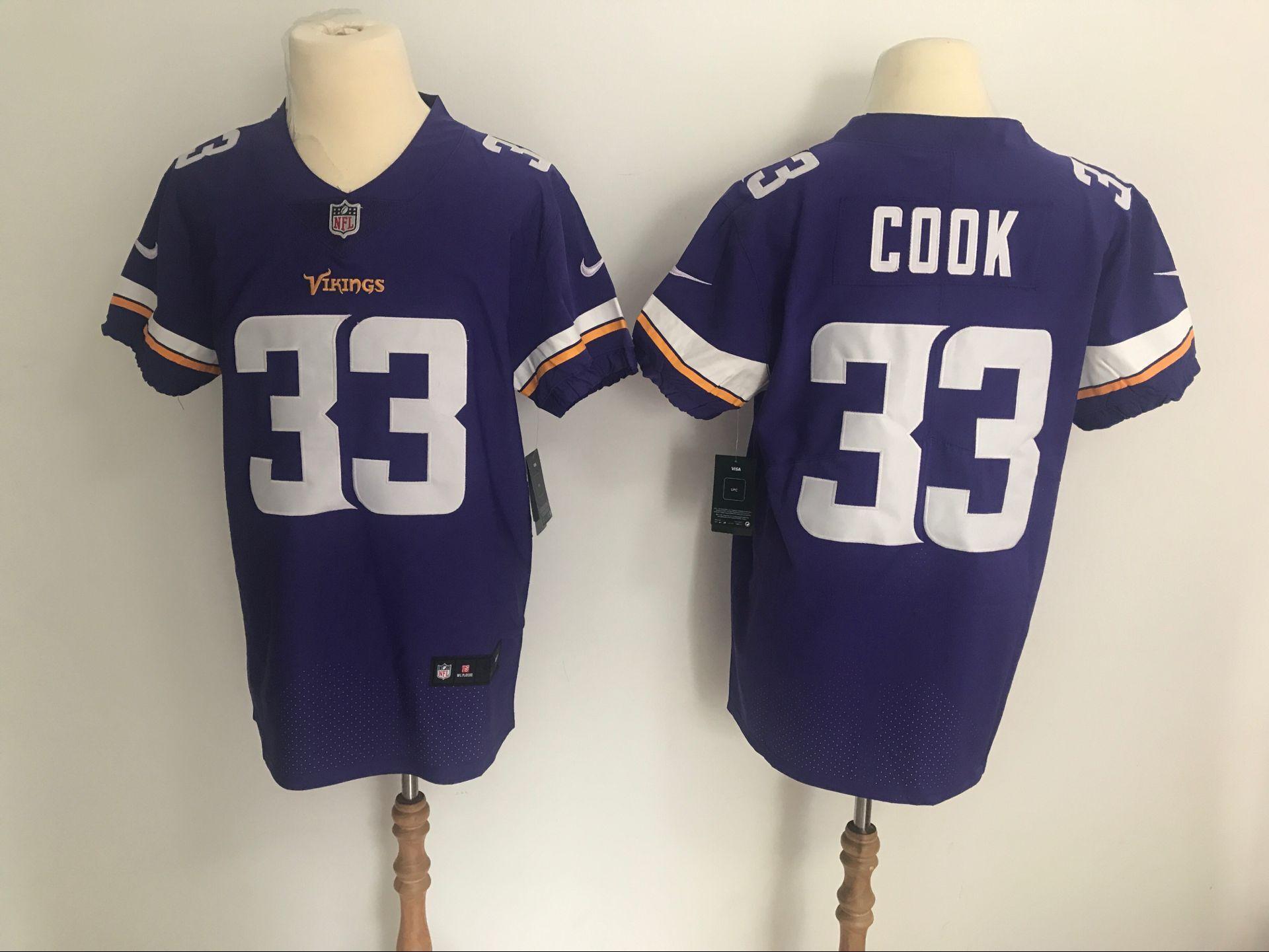 ... new style nike vikings 33 dalvin cook purple team color mens stitched  nfl vapor untouchable elite d64a846b2