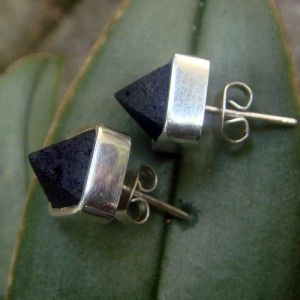 Lava & silver pyramid studs, for him and her or you can share with your significant other, sweeeet! available now www.lava-links.com