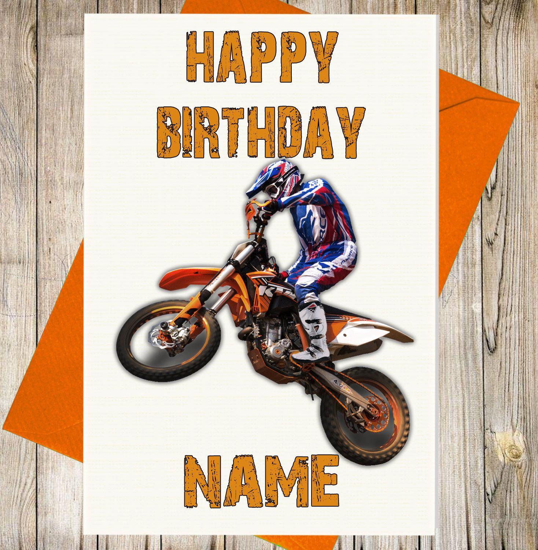 Dad Son Grandson Husband Friend Brother Boyfriend Motorbike 88th Birthday Card