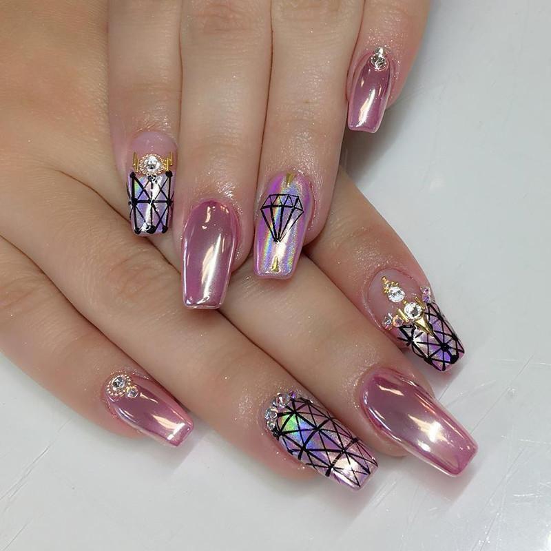 uñas cromadas #makeupnails | Uñas espejo, Uñas cromadas