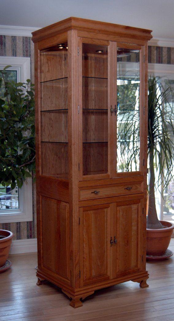 Etonnant Custom Made Cherry Curio Cabinet