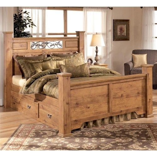 Bittersweet Queen Poster Bed with Under Bed Storage by Signature ...