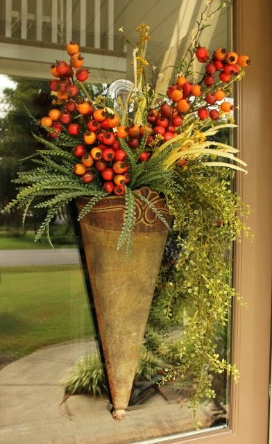 Step by Step Fall Door Arrangement & Step by Step Fall Door Arrangement | Doors Front doors and Holidays