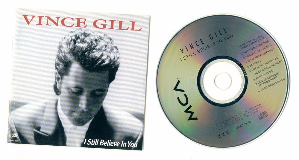 "VINCE GILL ""I Still Believe In You"" MCA Cd Compact Disc Set Free S/H USA"