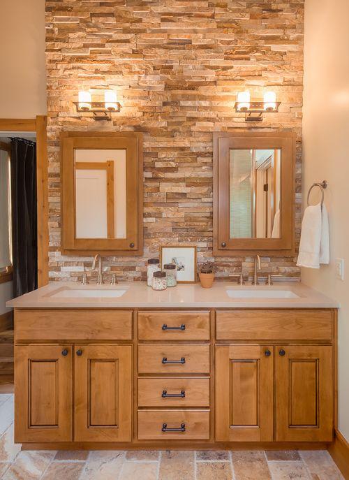 Denver Bungalow. Bathroom ColorsBathroom DesignsRock WallCustom ...