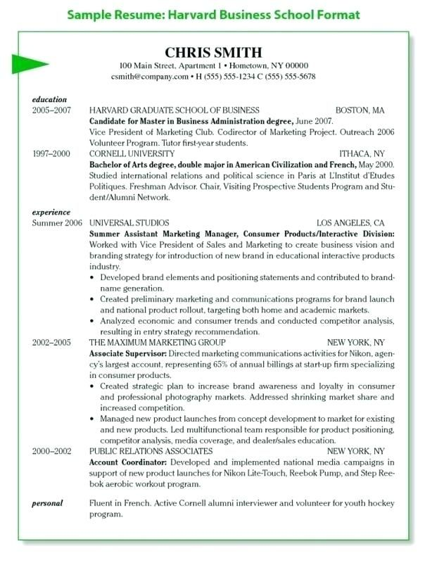 Resume Template Harvard Business School Eleveniaco Cover Letter For Resume Resume Template Business Resume Template