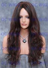 Dark Brown/Auburn Mix Long Wavy Heat Safe Synthetic Wig FT Cala in F4/30