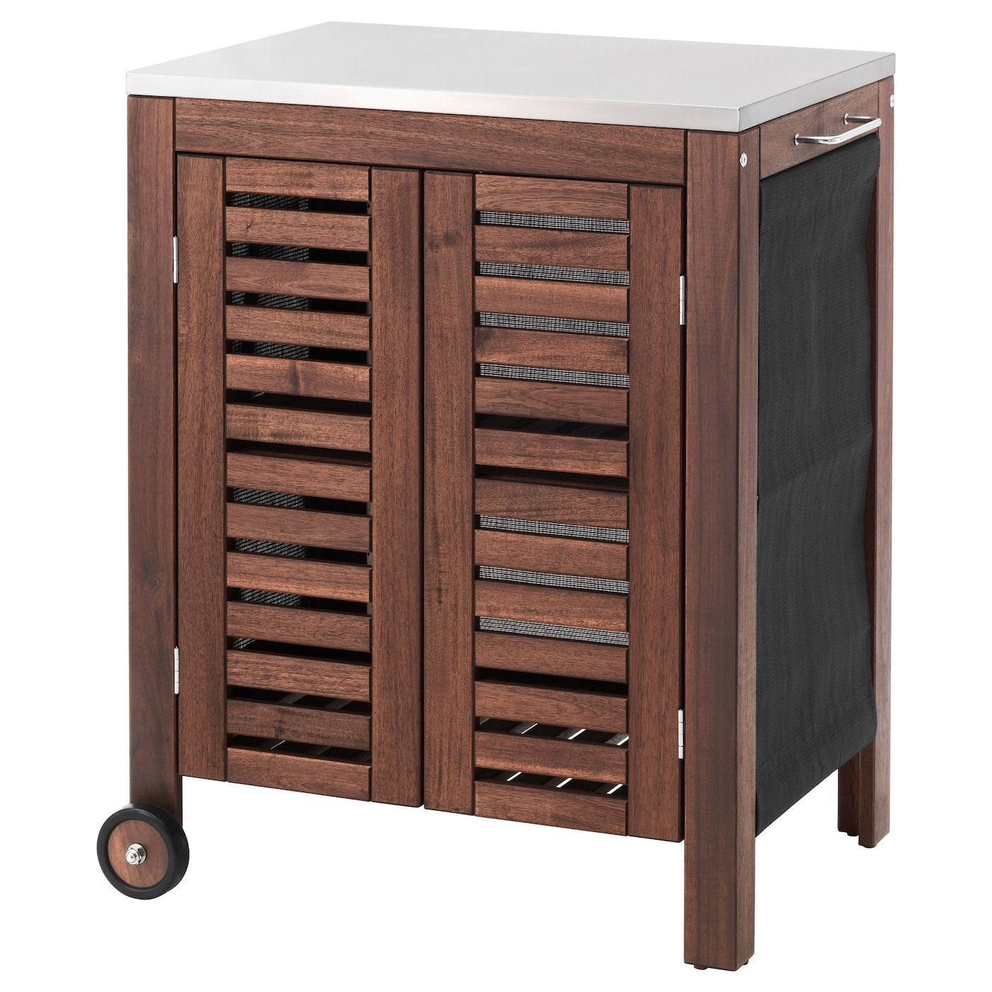 Applaro Klasen Storage Cabinet Outdoor Brown Stained Stainless Steel Color 30 3 8x22 7 8 Storage Cabinet Ikea