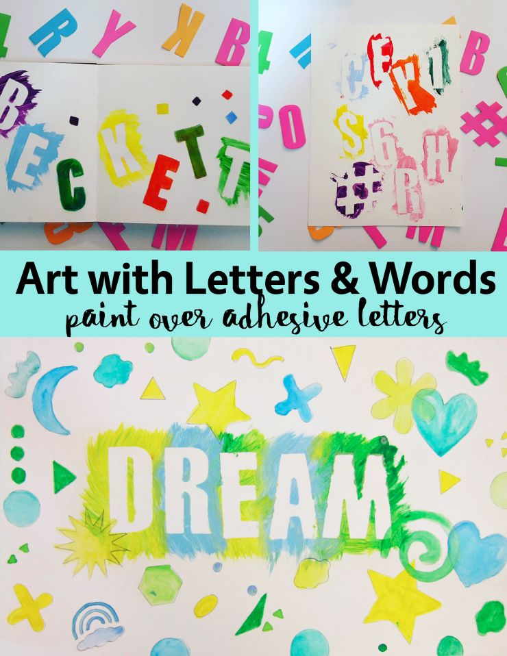 Art With Letters And Words Painting Over Adhesive Letters