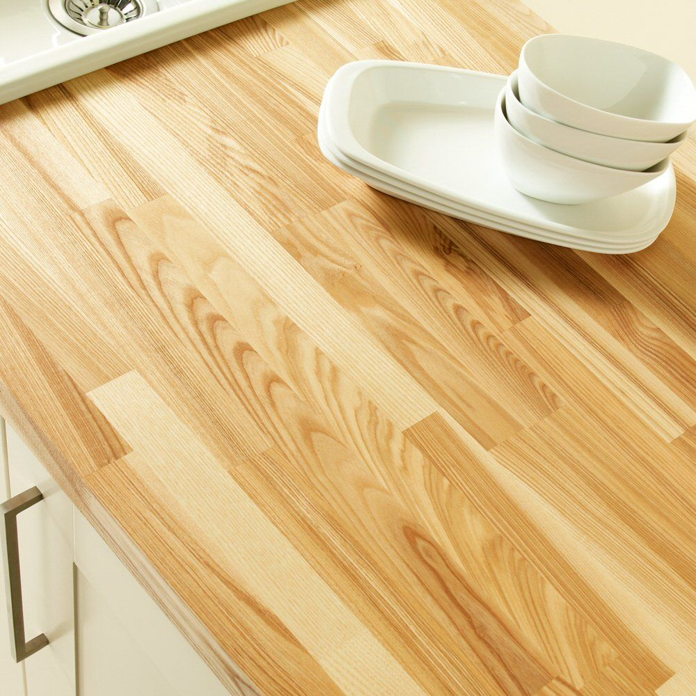 Brown Ash Worktop With Images Wood Worktop Solid