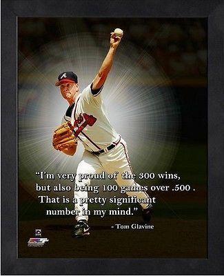 Tom Glavine Atlanta Braves Mlb Pro Quotes Photo Size 9 X 11 Framed Atlanta Braves Tom Glavine Braves