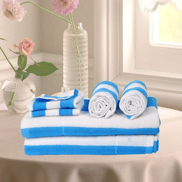 Buy Bath Towels Online In India Blue Color Buy Face Hand Towels