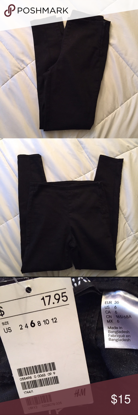 NWOT Divided black high waisted skinny pants Super cute and NWOT Divided black high waisted skinny pants. I usually wear a 4-6 and these must run small because they don't fit right. Would fit a size 4 best. In perfect condition, tried on but never worn. Divided Pants Skinny