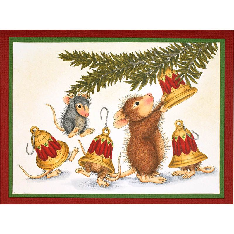 Bell Decorations Stampendous Cling Mounted Rubber Stamps  House Mouse Designs