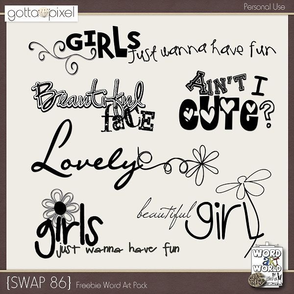 Download Download HERE (This 6-pack word art freebie will be ...