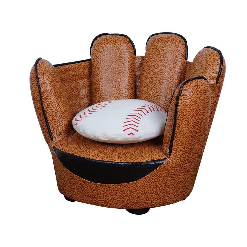 Awe Inspiring Baseball Glove Chair Pillow Set Baseball Chair Pillow Inzonedesignstudio Interior Chair Design Inzonedesignstudiocom