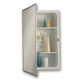 Jensen Modular Shelf 16 In X 26 In Rectangle Recessed Mirrored Steel Medicine Cabinet 468modx Products