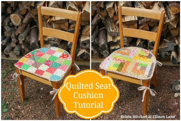 "This free quilt tutorial will show you how to make a ""Quilted Seat ..."