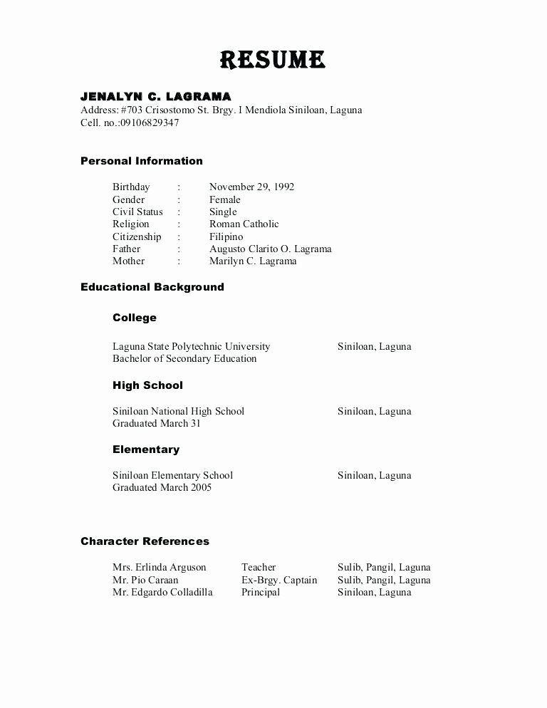 Resume Template With References Awesome References Resume Sample Reference Page Resume In 2020 Resume References Reference Page For Resume Resume Examples