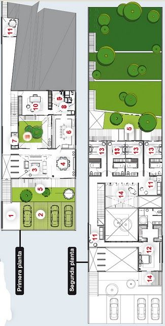 Planos casa en cerro declive ideas para el hogar for Modelos de jardines interiores