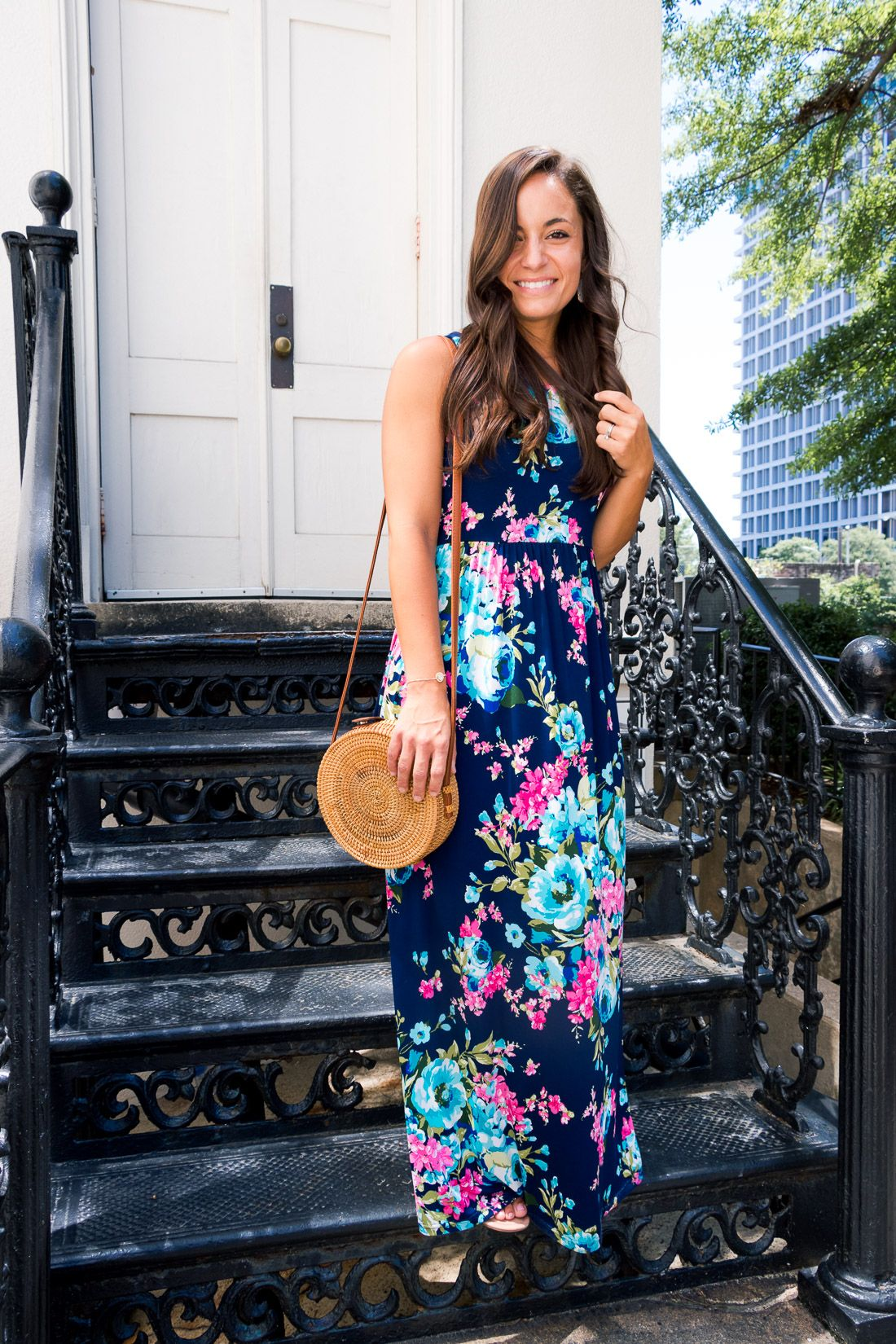 Maxi floral dresses favorite summer outfit rare photo