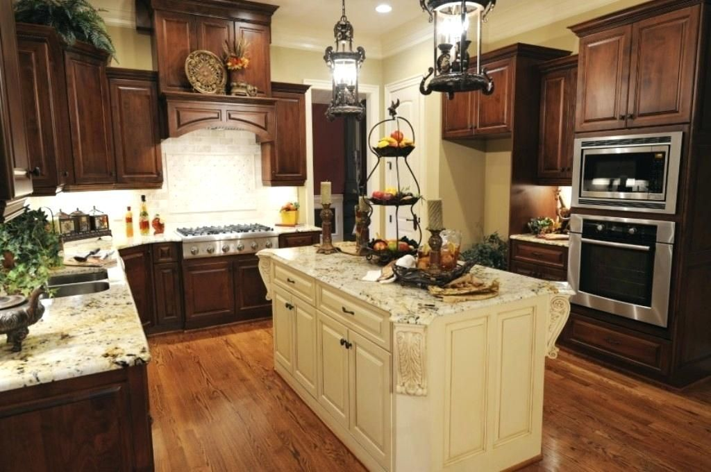 Pale Yellow Kitchen Traditional Dark Brown Wooden Kitchen Cabinet For Small Kitchen Plans With Pale Y Luxury Kitchen Design Kitchen Design Contemporary Kitchen