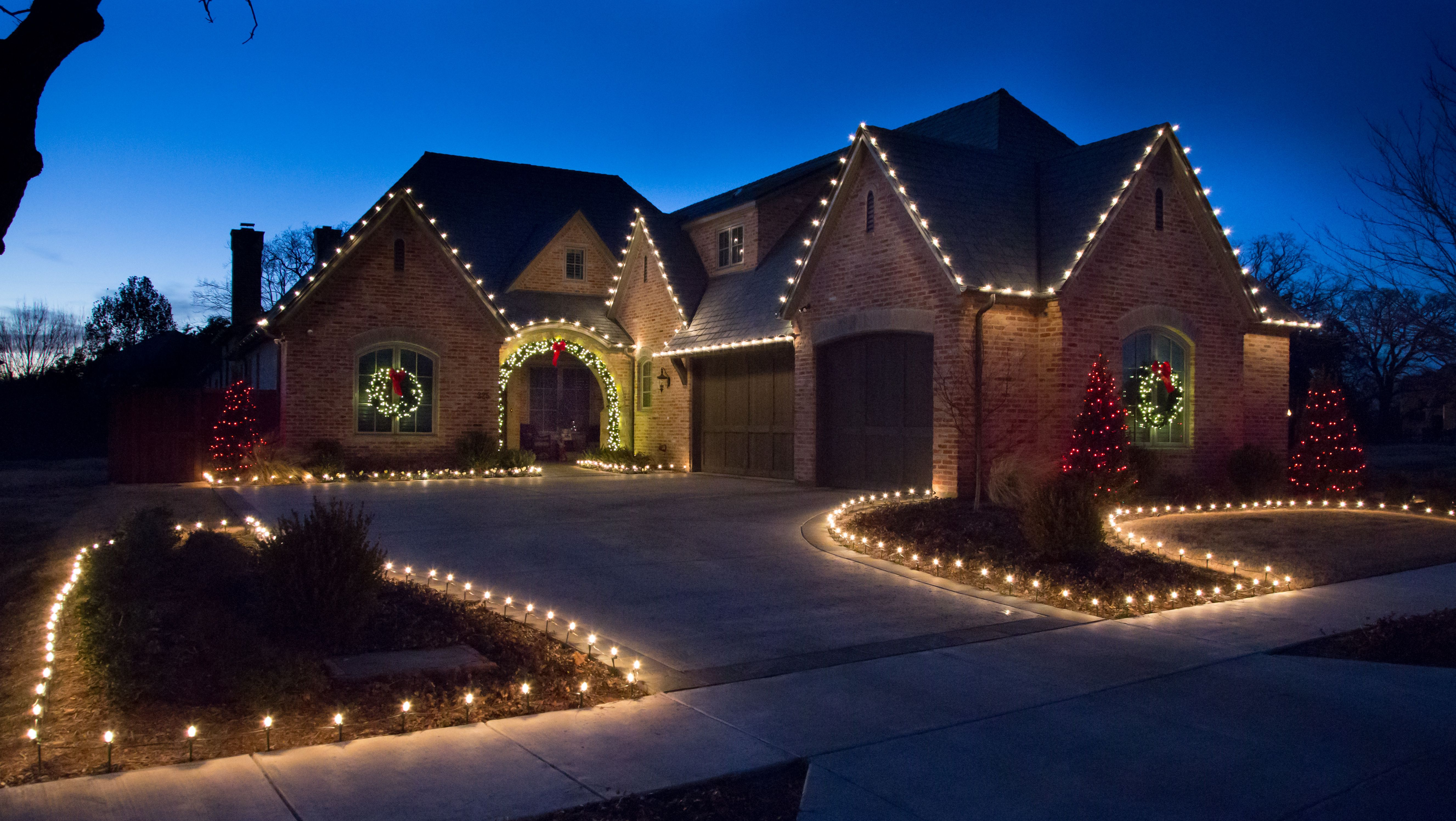 Christmas Lighting Install in Dallas The Perfect Light