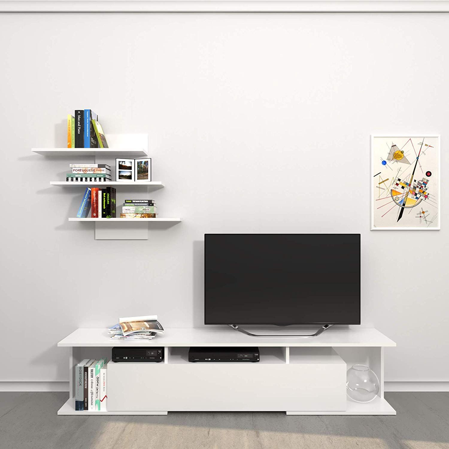 Meuble Tv Colmar Theta Design By Homemania Porte Tv Meuble Tv Bounty Blanc Tv