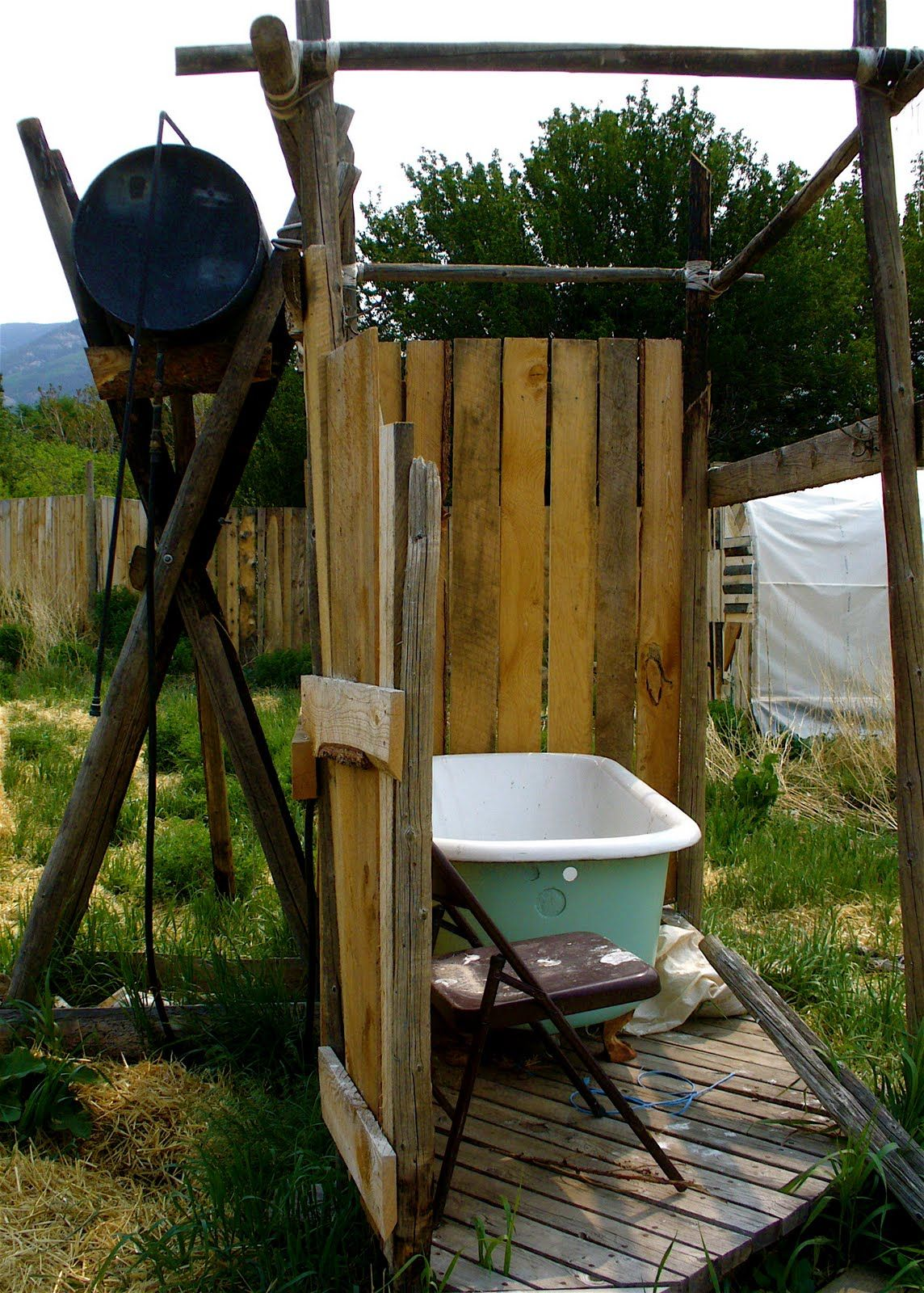 solar shower ideas . Build Blog Hoop Houses And An