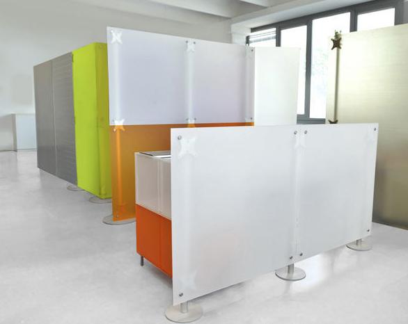 Praxiseinrichtung Raumteiler Trennwand Acrylglas weiss