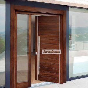 Puertas de madera contempor neas iroko y roble multicapa y for Puertas de entrada modernas