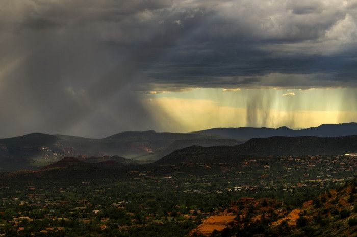 20. Rain falls in Sedona.