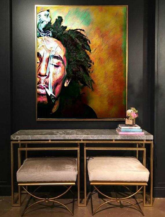 Bob Marley Wall Art Lisa Jaye Art Designs Bob Marley Art Bob Marley Art Painting Bob Marley Painting