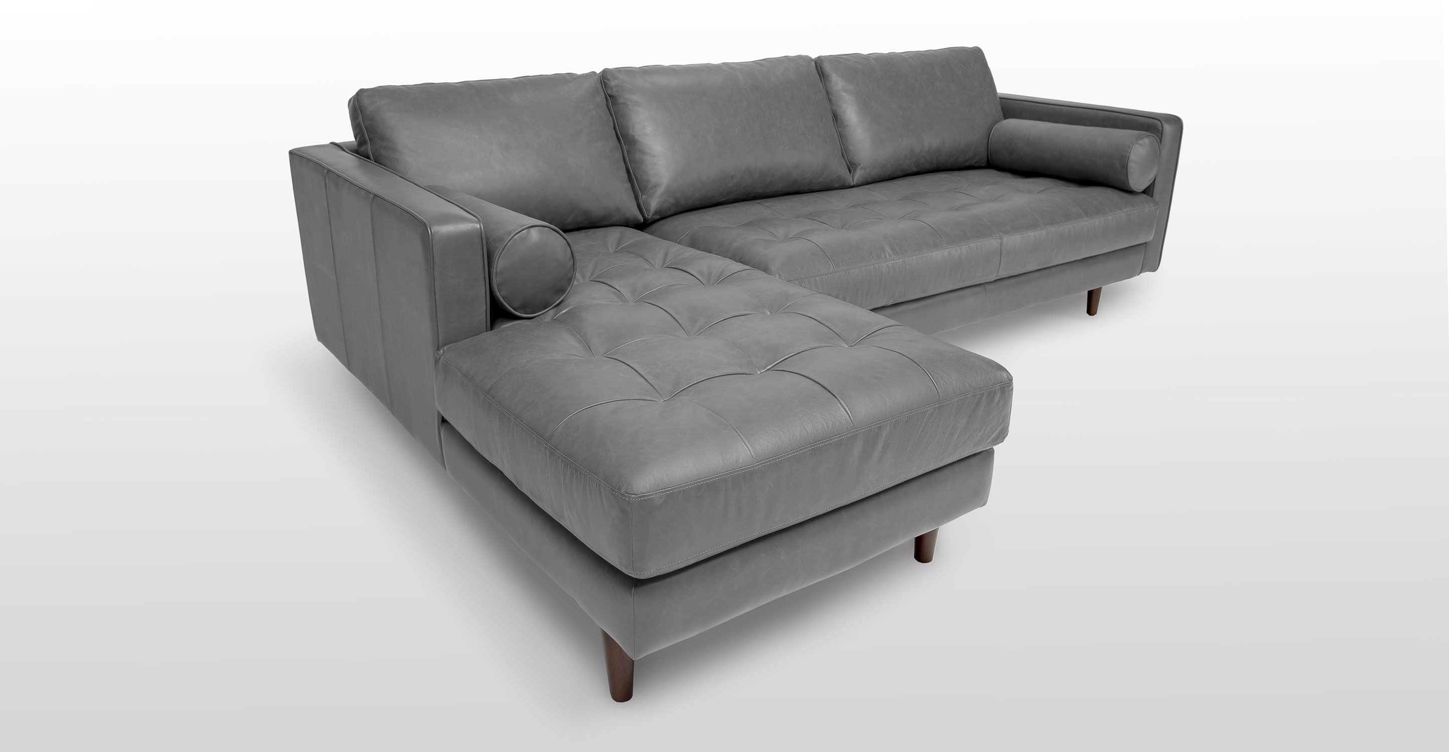 ^ Sven Oxford Gray Left Sectional Sofa Feathers, Sectional sofas ...