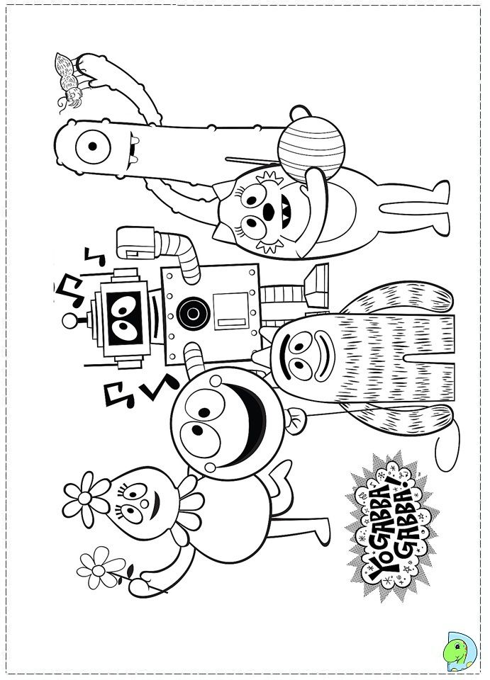printable foofa from yo gabba gabba coloring pages free