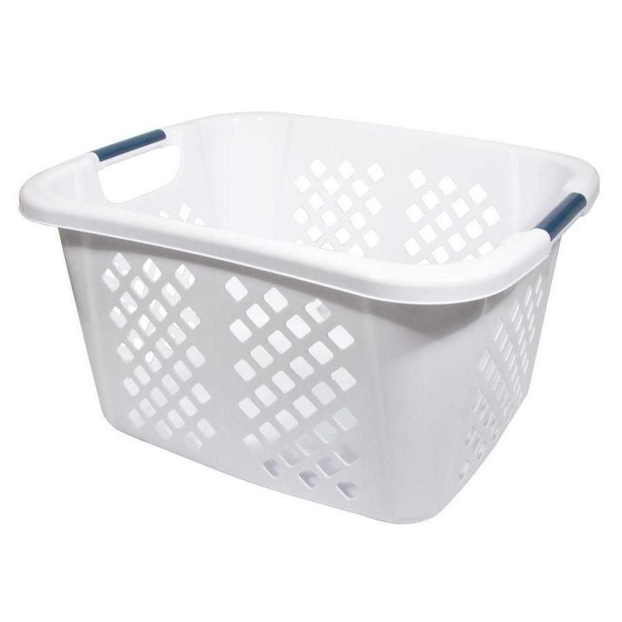 Details About Laundry Basket Plastic Hamper Lightweight Sturdy