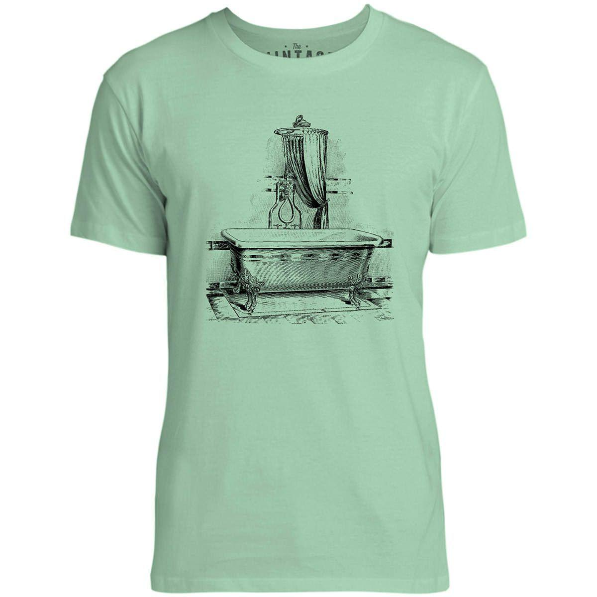 Mintage Antique French Bath Mens Fine Jersey T-Shirt (Mint)