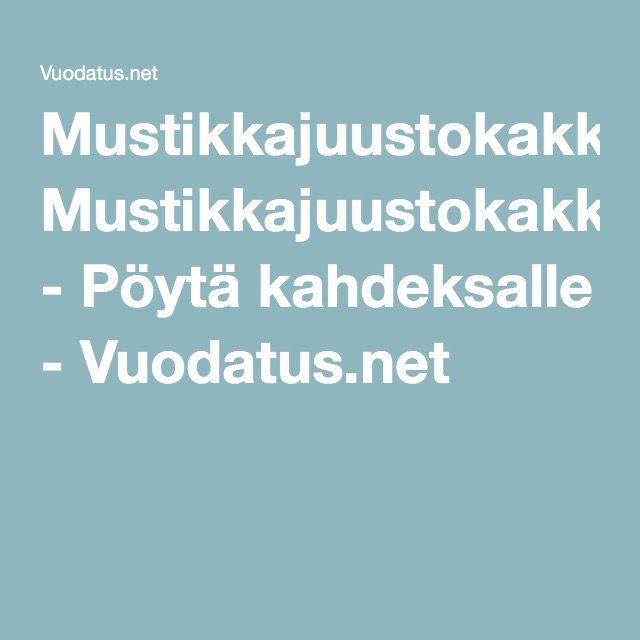 Mustikkajuustokakku - Pöytä kahdeksalle - Vuodatus.net