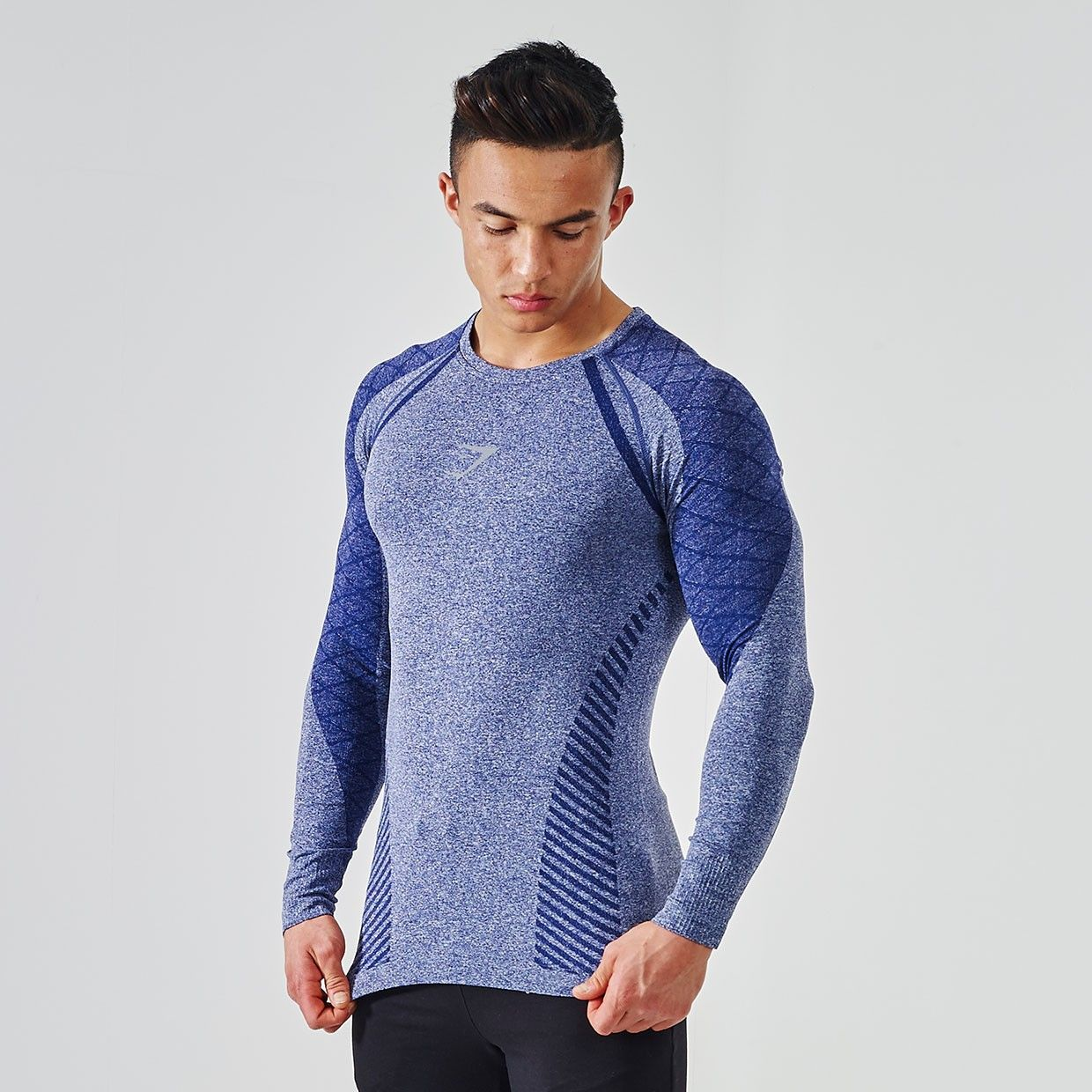 Gymshark-Devant-Seamless-Long-Sleeve-T-Shirt-Navy-v1 | Product ...