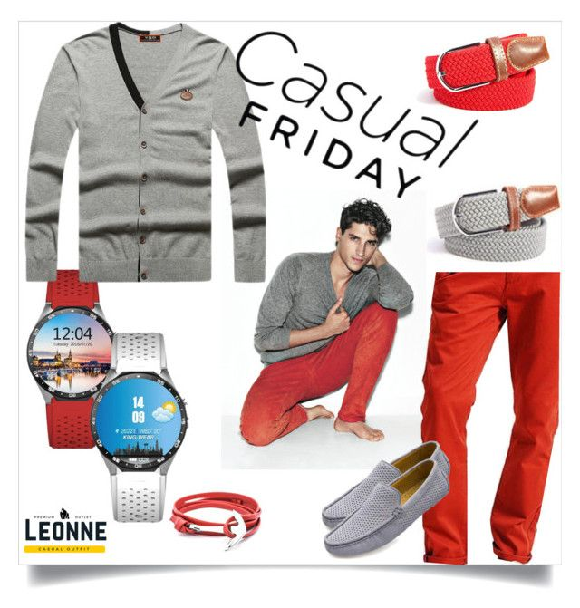 """""""Casual Friday"""" by leonnestyle ❤ liked on Polyvore featuring men's fashion and menswear"""
